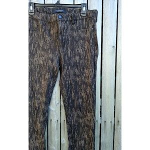 Liverpool black & brown abstract stretch jeans 12